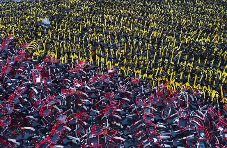Where bikes go to die in China