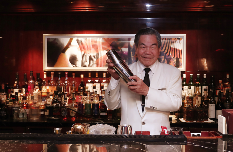 Clark Gable taught him to mix a drink. 60 years later he's still making it
