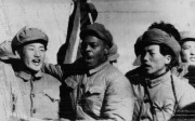 Clarence Adams with Korean prisoners of war and communist captors, in 1954. Photos: SCMP; Della Adams; UPI