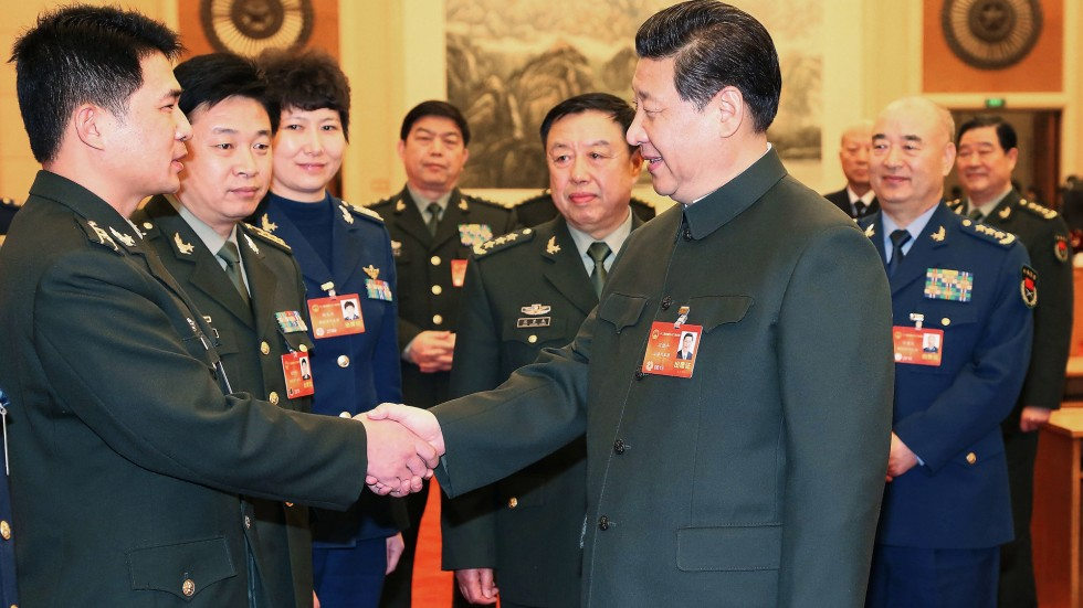 Image result for xi jinping with PLA