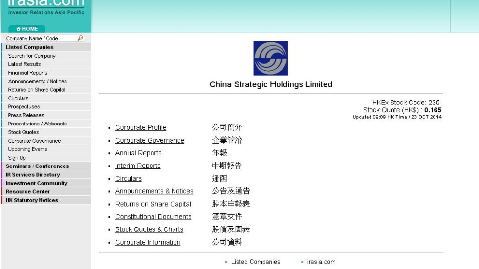 China Strategic Prices Hk1776m Rights Issue At 60pc Discount