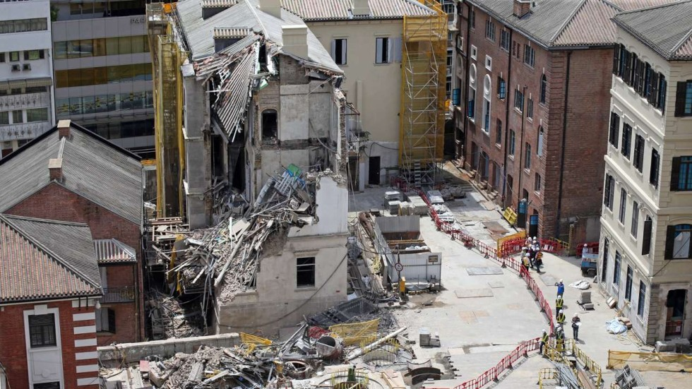 Collapsed Building At 150 Year Old Former Central Police