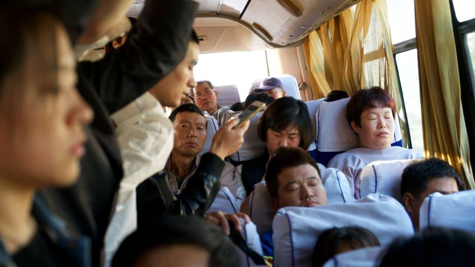 Sexual harassment in crowded bus in china