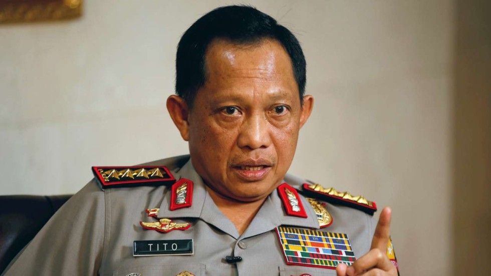 Image result for Indonesian National Police chief Tito Karnavian, photos