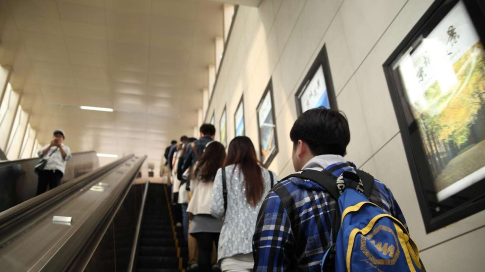 Image result for stand on the right escalator