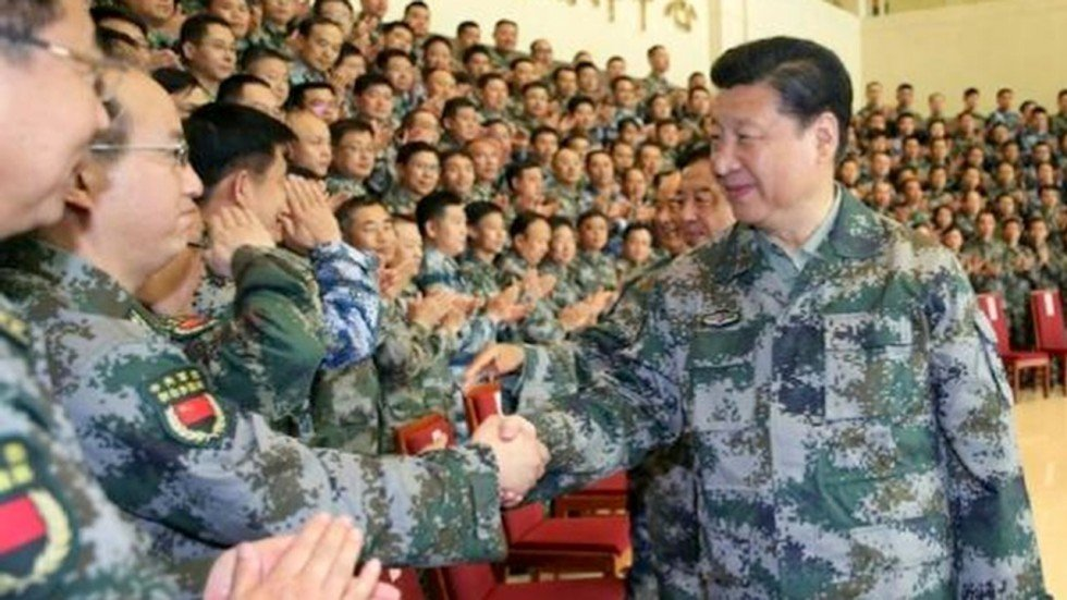 Image result for Xi Jinping inspects military parade at PLA 90th birthday