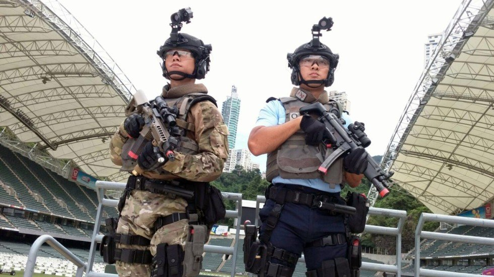 Hong Kong police mount large-scale anti-terror drill ahead of ...