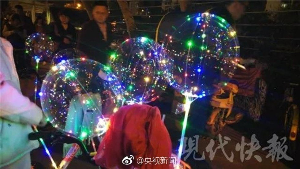 four hurt in china after led light balloons explode south china