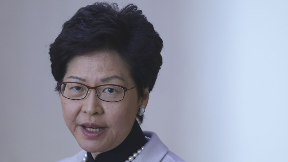 Carrie Lam Throws Support Behind College That Removed Two Students