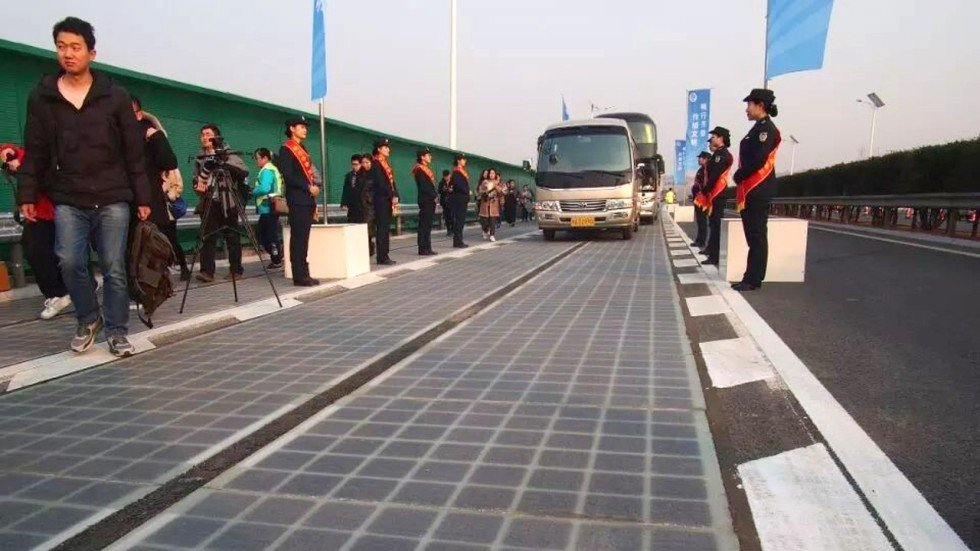 Thieves Shut China S Solar Highway After Just Five Days