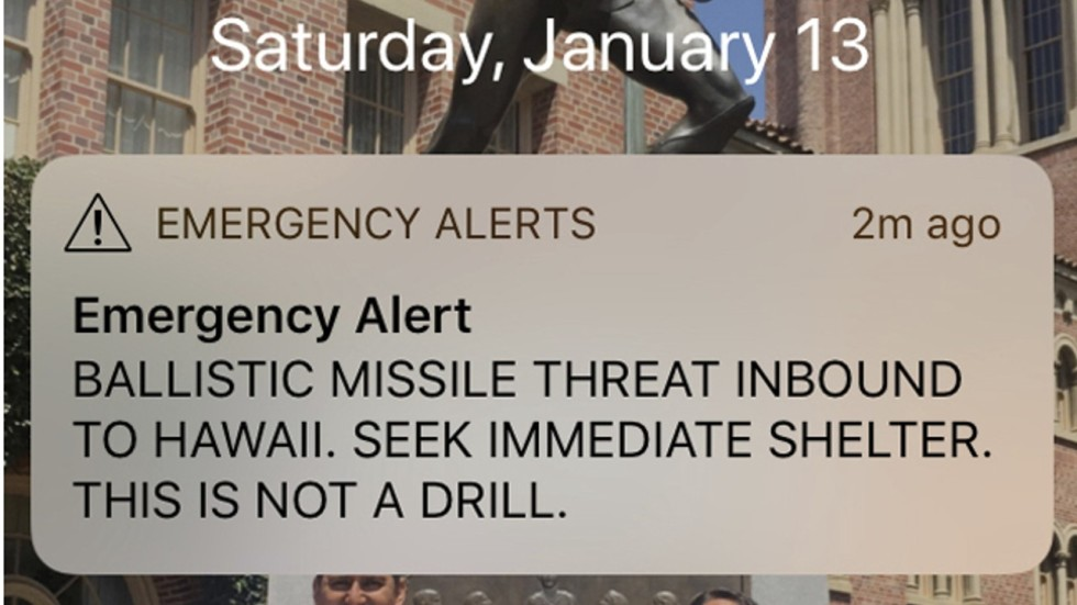 Incoming Missile Attack Alert That Spread Panic In Hawaii