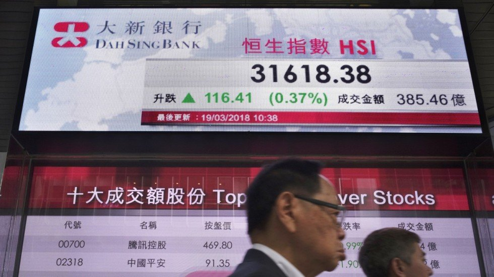 Hong Kong And China Stocks Decline For Second Day Over Concerns Us