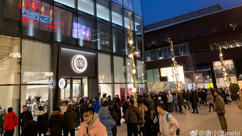 chinese customers flock to canada goose s first china flagship store rh scmp com
