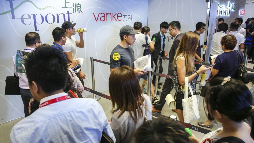 record high sales at chinese developer vanke which unveiled to