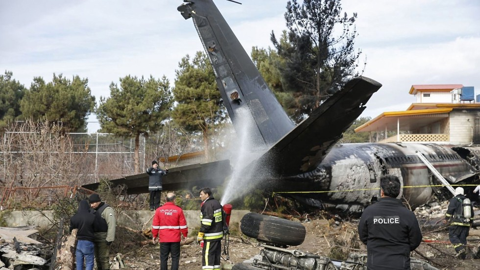 Iran Military Boeing 707 Cargo Plane Crashes Near Tehran