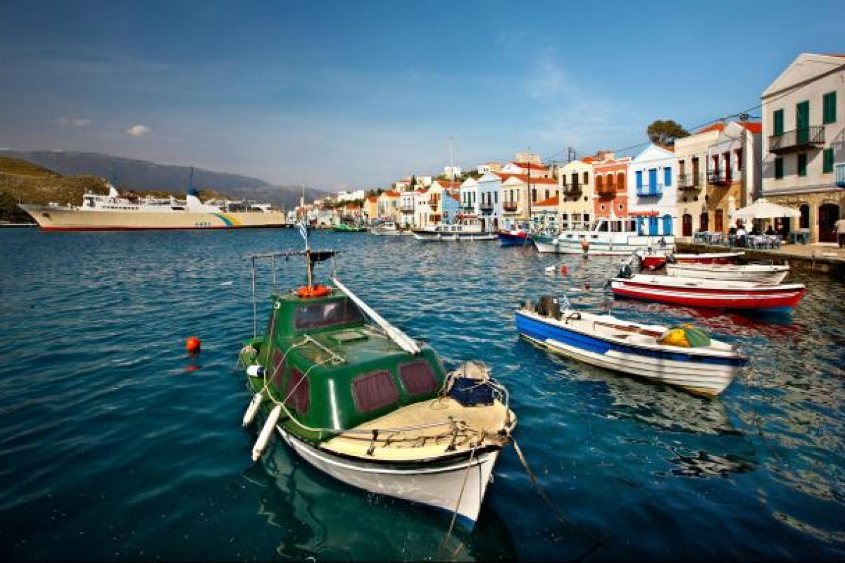 The picturesque harbour and village of Kastelorizo island in Greece's Aegean Sea. Photo: Alamy
