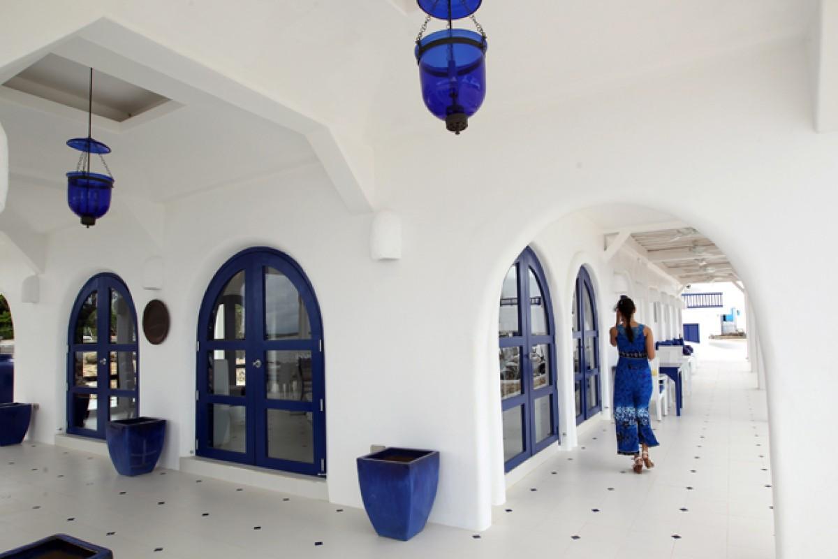 Mykonos' bar/restaurant.
