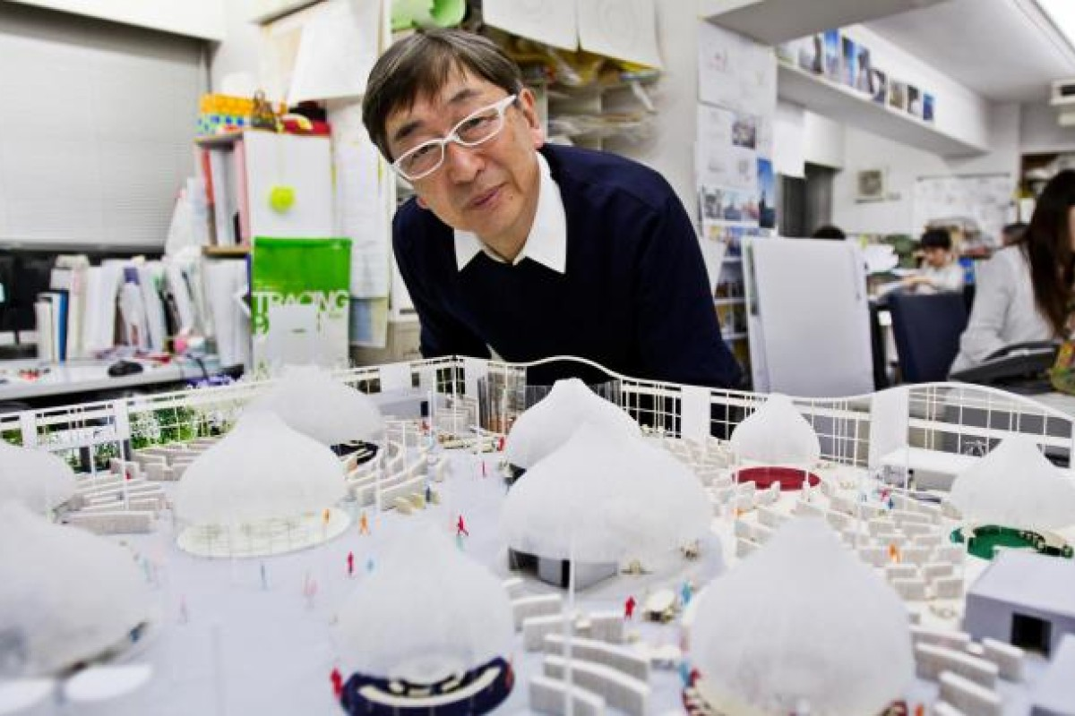 Toyo Ito in his office in Shibuya, Tokyo. Portrait: Christopher Jue