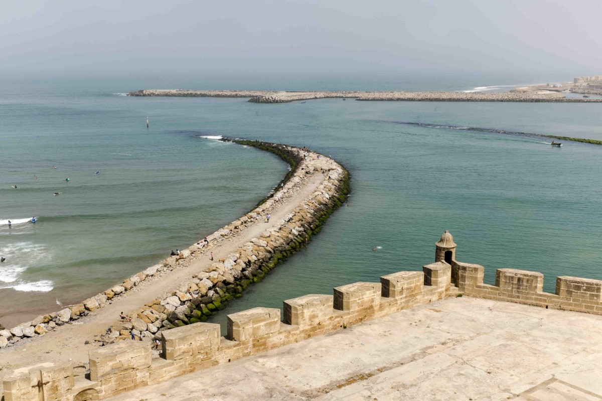 The view from Kasbah des Oudaias, in Rabat