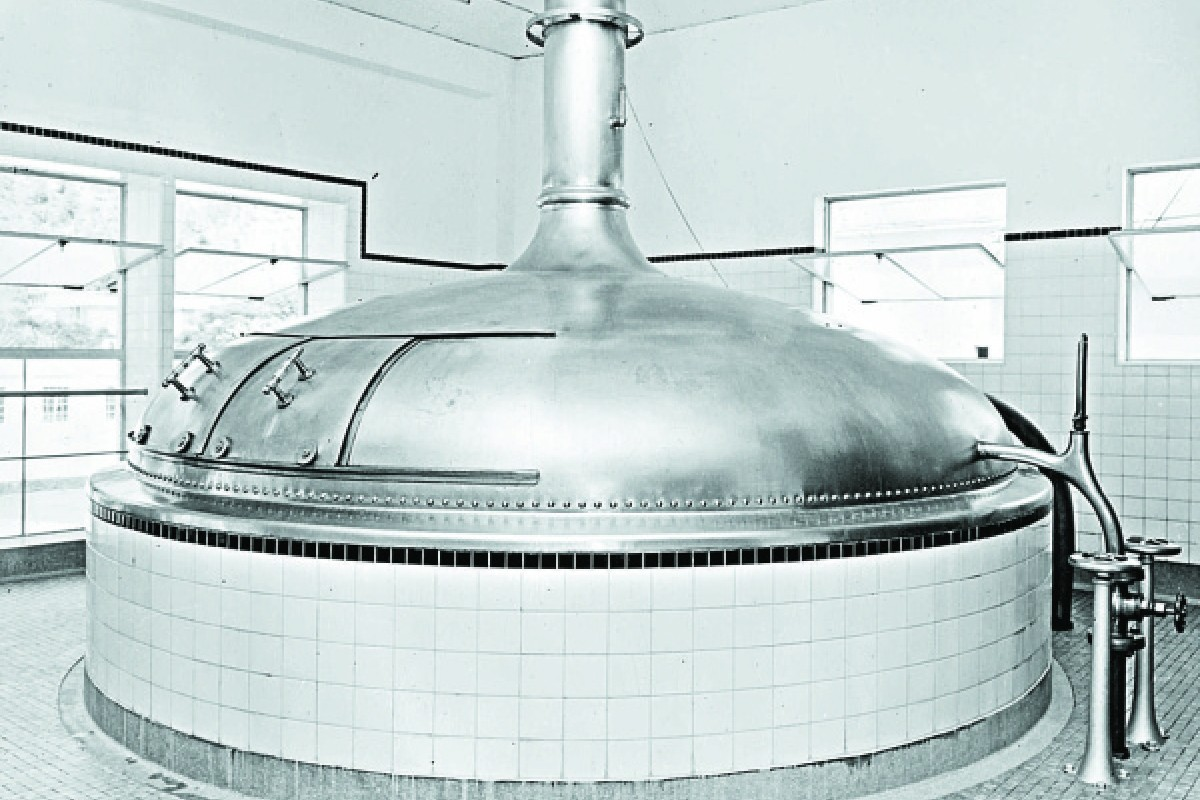 A wort kettle at the plant.