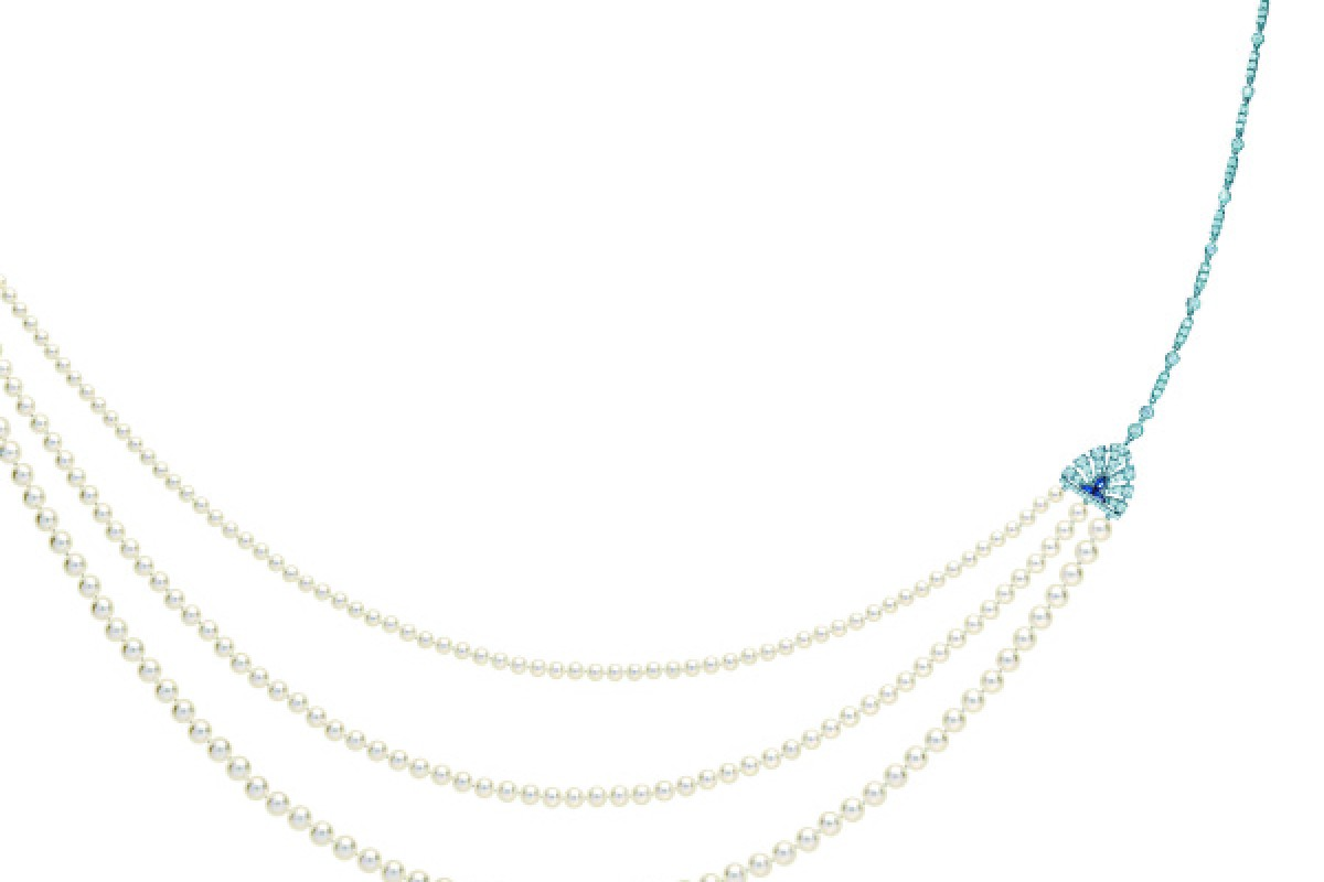 A pearl strand necklace from Tiffany's is a symbol of 1920s glamour.