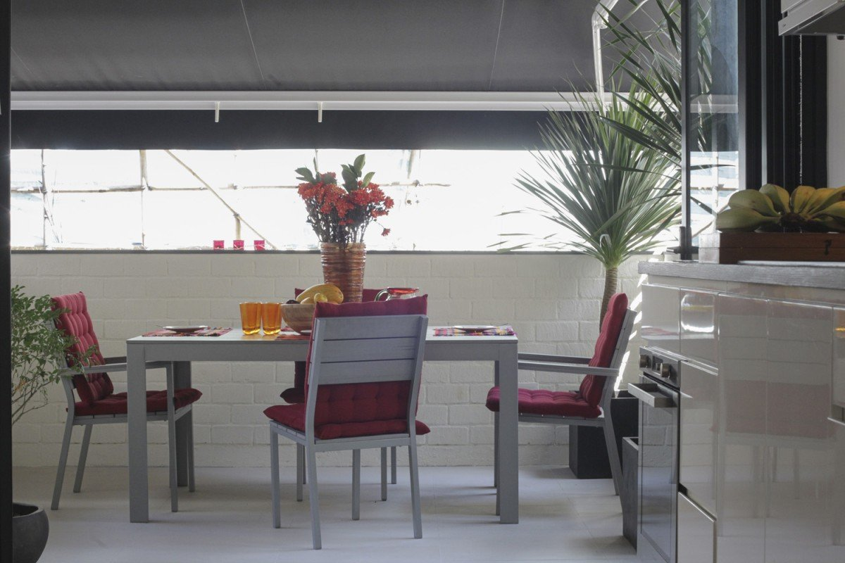 Balcony: The table and chairs set cost HK$3,800 at Ikea. The plants (HK$2,800 in total) were from Kalok Horticulture (1K Mang Kung Wo Road, Sai Kung, tel: 2719 3039). To provide all-weather protection, Liebert added a black canopy (HK$7,800) from Sun & Rain (134 Connaught Road, Central, tel: 2572 4008).
