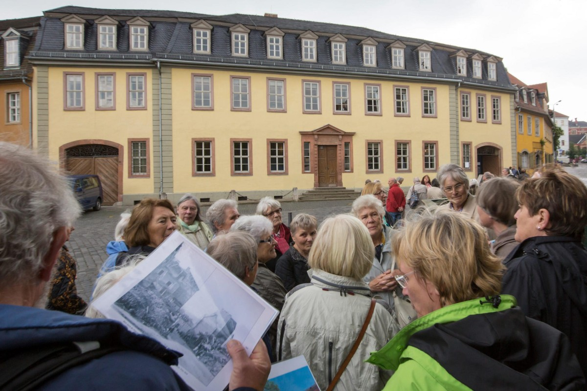 Goethe House, where Johann Wolfgang von Goethe lived, in Weimar.