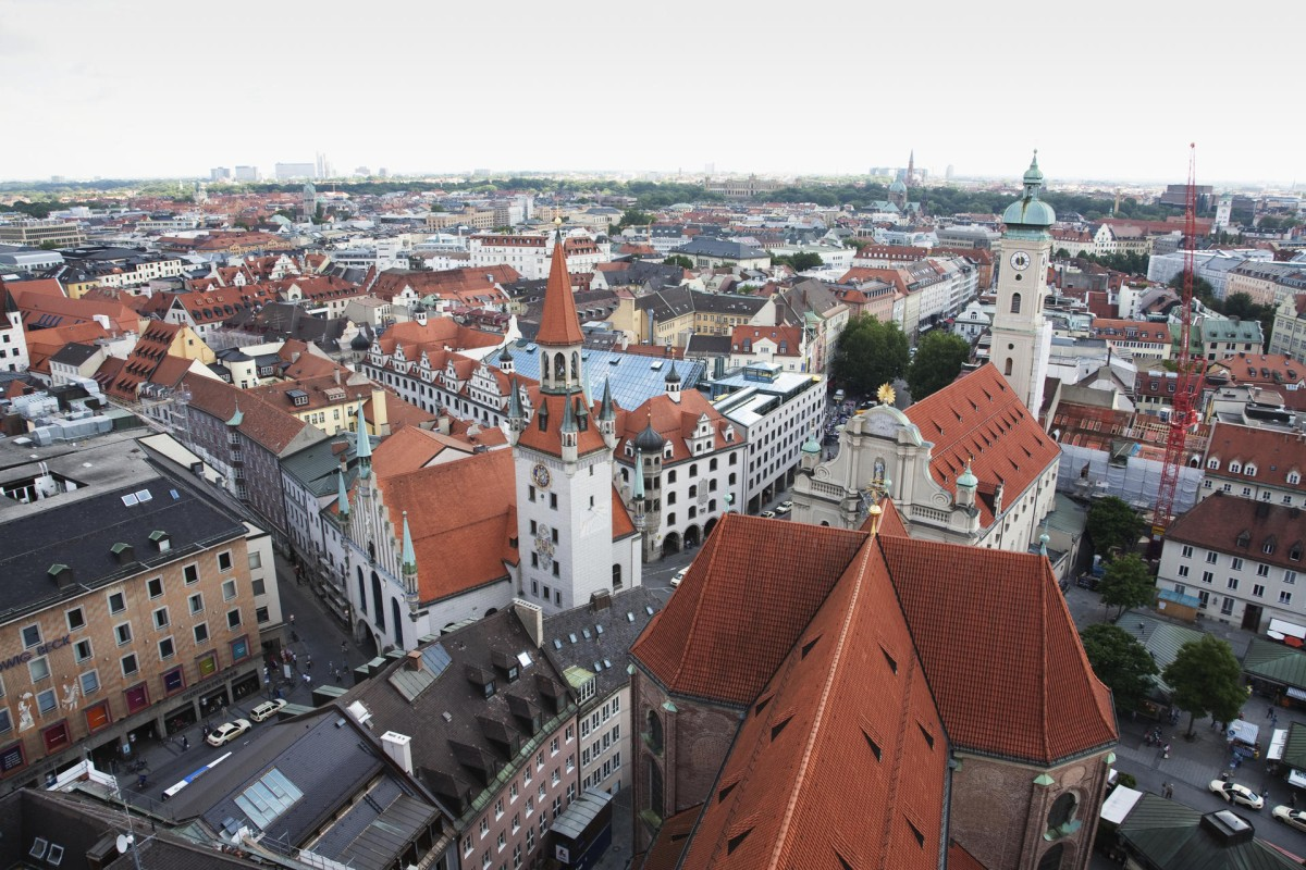 The Munich skyline.