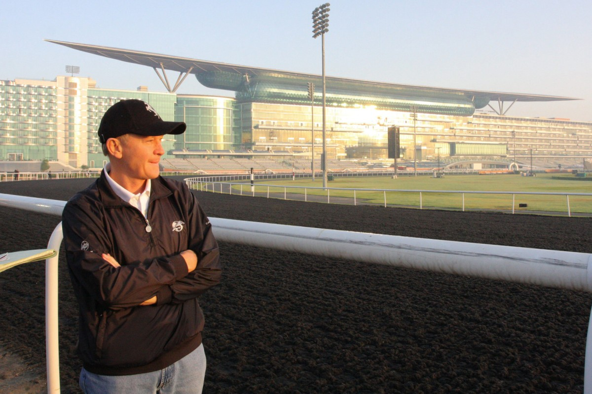 John Moore, who travelled to Meydan Racecourse in Dubai in March, says quarantine is the main obstacle to taking his horses to Australia. Photo: Kenneth Chan