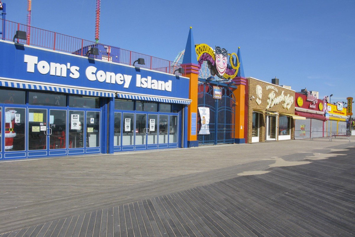 Tom's Coney Island diner is open for the low-season crowd.