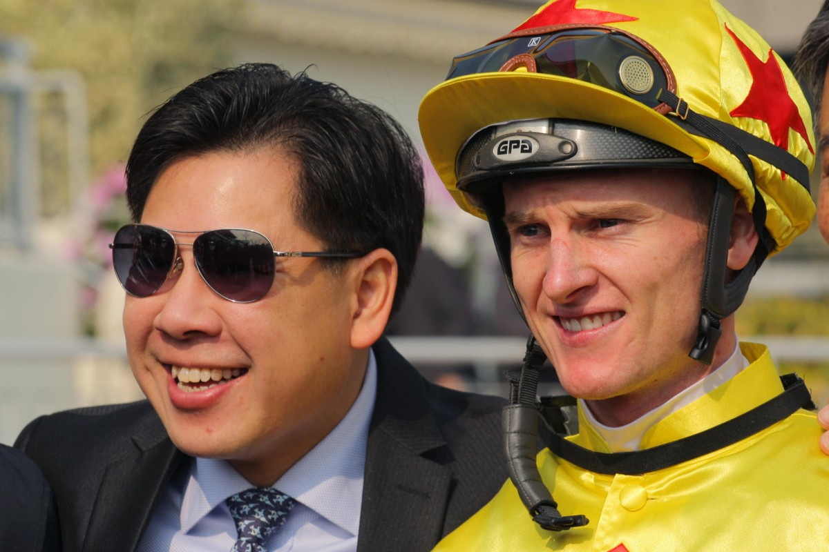 Zac Purton managed to land a four-timer, including two for long-time supporter Dennis Yip. Photo: Kenneth Chan