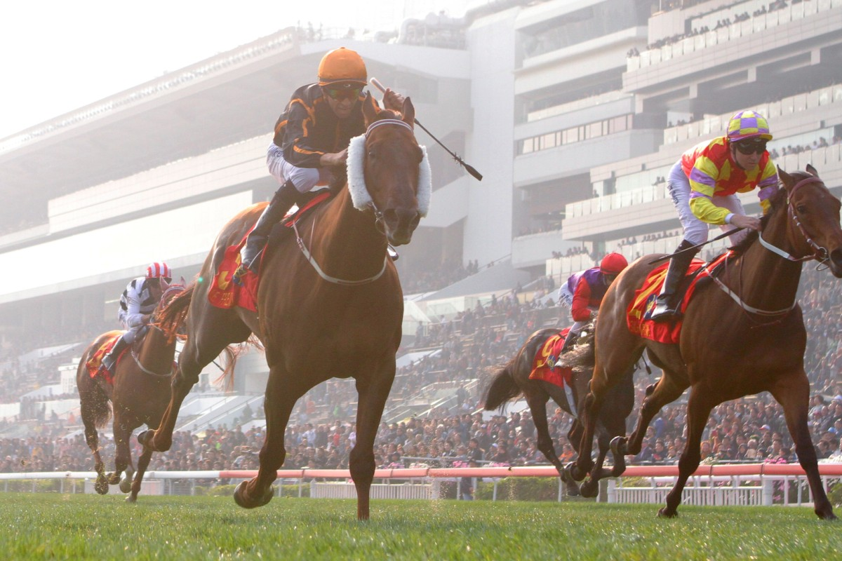 Trainer John Moore says Able Friend, pictured winning the Hong Kong Classic Mile at Sha Tin in January, can win the feature race on Sunday. Photo: Kenneth Chan