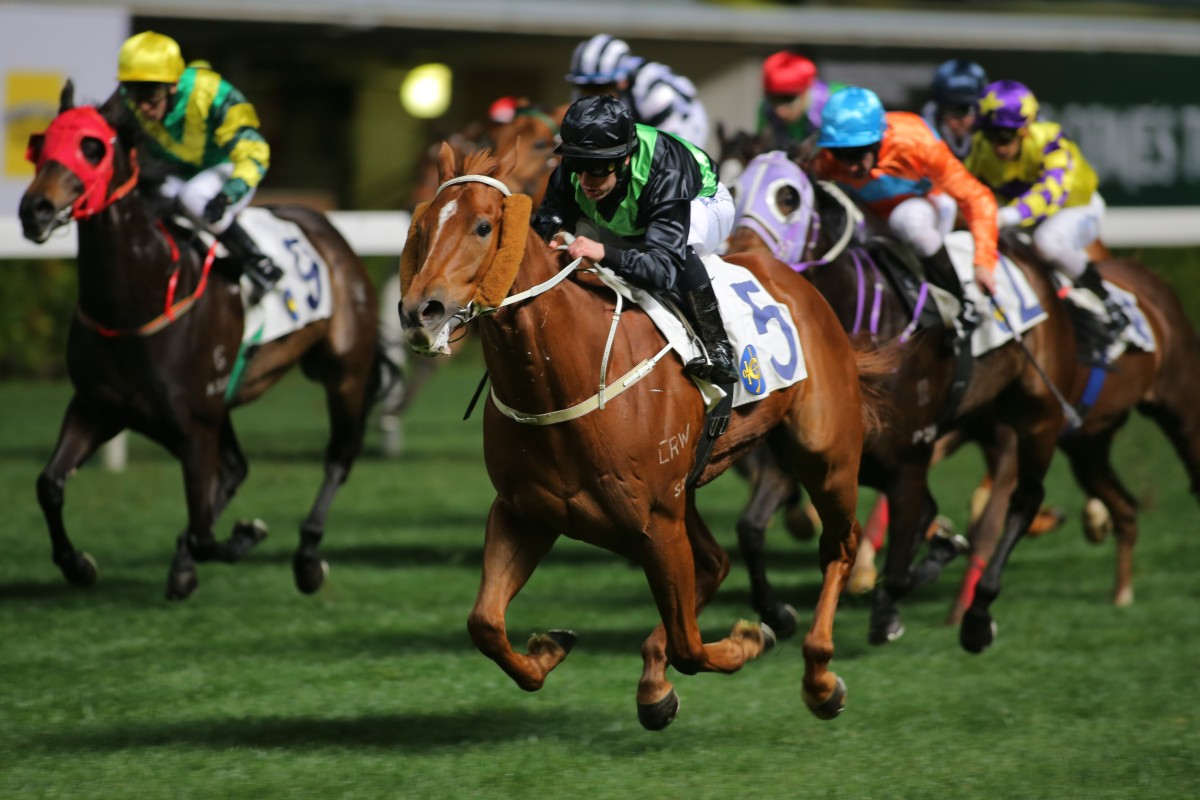 Key Witness came from a long way back to win at Happy Valley on Wednesday night. Photo: Kenneth Chan
