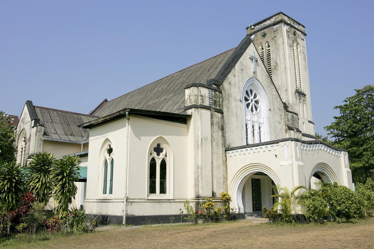 The First Baptist Church in Mawlamyine, founded in 1827.