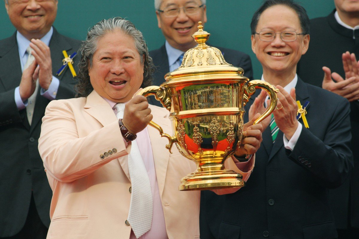 Sammo Hung after winning the Kent & Curwen Centenary Sprint Cup with Amber Sky. Photo: Kenneth Chan