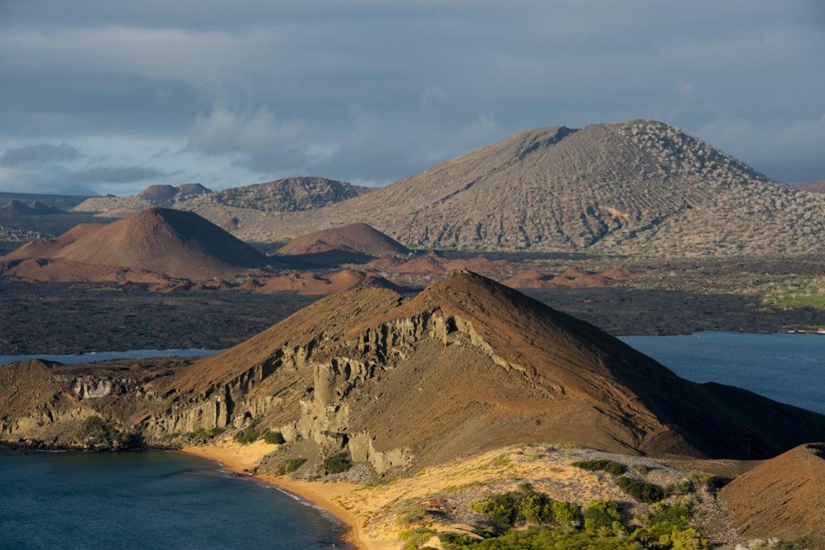 Bartolomé Island, a volcanic islet in the Galapagos. Photos: Corbis; May Tse