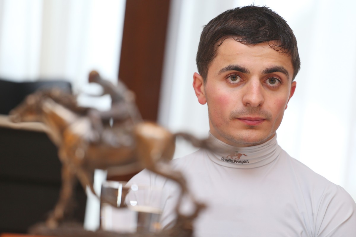 """Andrea Atzeni represents the new generation of jockeys in that he understands the power of """"new"""" media, which is at odds with the Jockey Club. Photo: Kenneth Chan"""