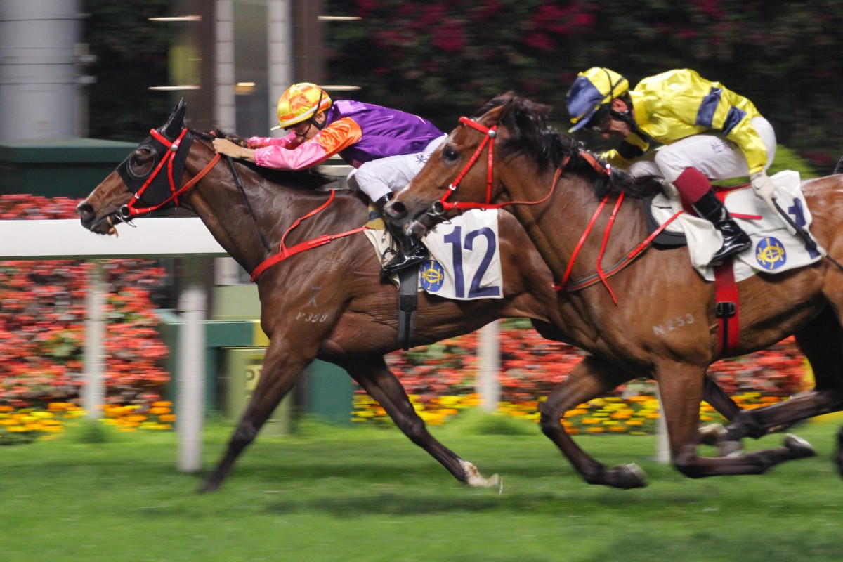 Redwood Baby wins in early April under Joao Moreira. He returns to Happy Valley tonight. Photo: Kenneth Chan