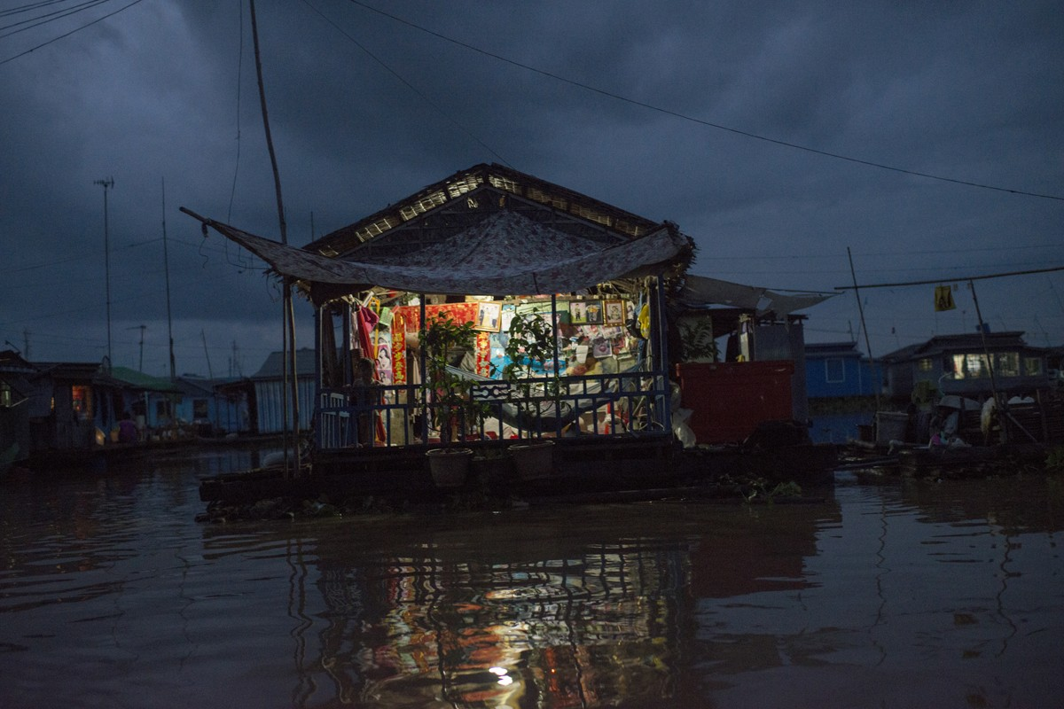 A floating village on Tonle Sap lake, home to most of Cambodia's ethnic Vietnamese.