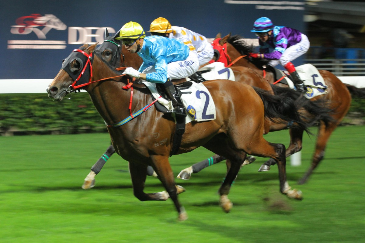 Tour De Force wins for Joao Moreira last start at Happy Valley. Photo: Kenneth Chan