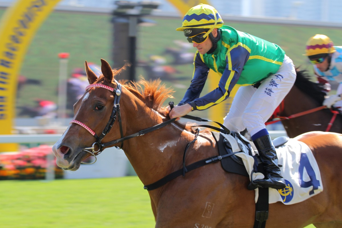 Andreas Suborics heads on a short trip home to Austria a happier man after his win aboard Blizzard. Photo: Kenneth Chan