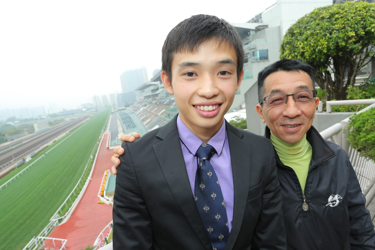 Jack Wong with trainer Me Tsui Yu-sak  at Sha Tin. Photo: Kenneth Chan