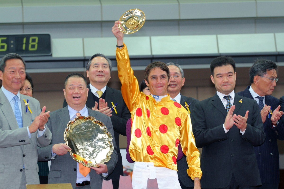 Christophe Soumillon will ride Amber Sky in the Al Quoz Sprint on March 28. Photo: Kenneth Chan
