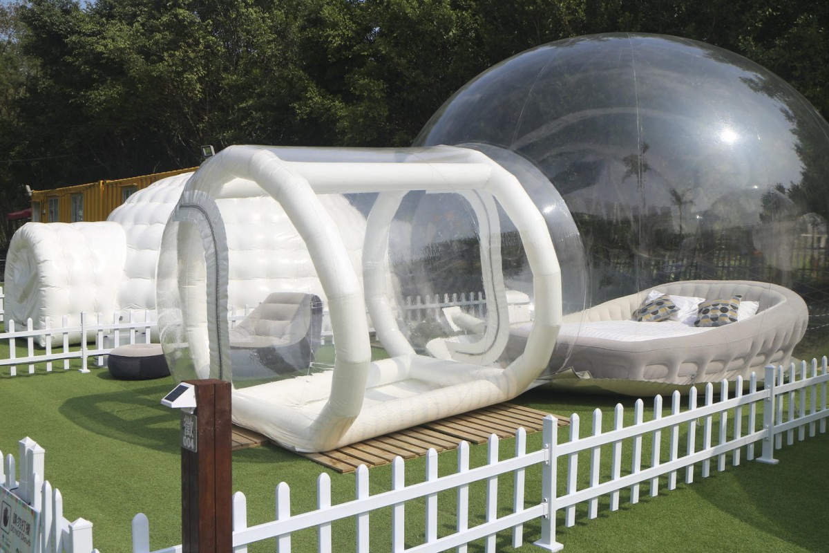 Mingle Farm offers a range of accommodation from igloo-like tents (above) to & Igloo tent? Bouncy castle? Camp in luxury at Yuen Long farm | Post ...