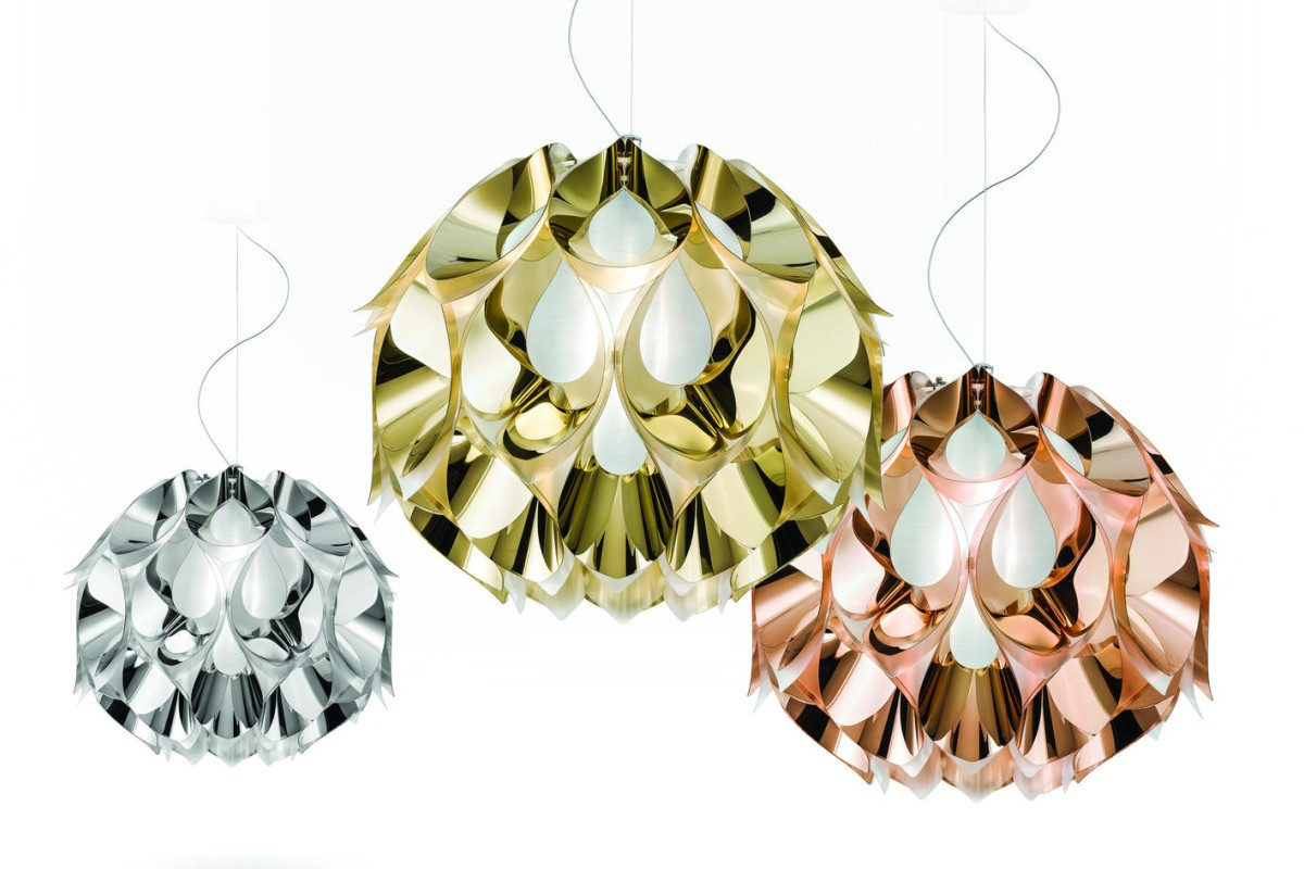 Zanini de Zanine's Flora ceiling lights inspired by the Brazilian Monstera flower.