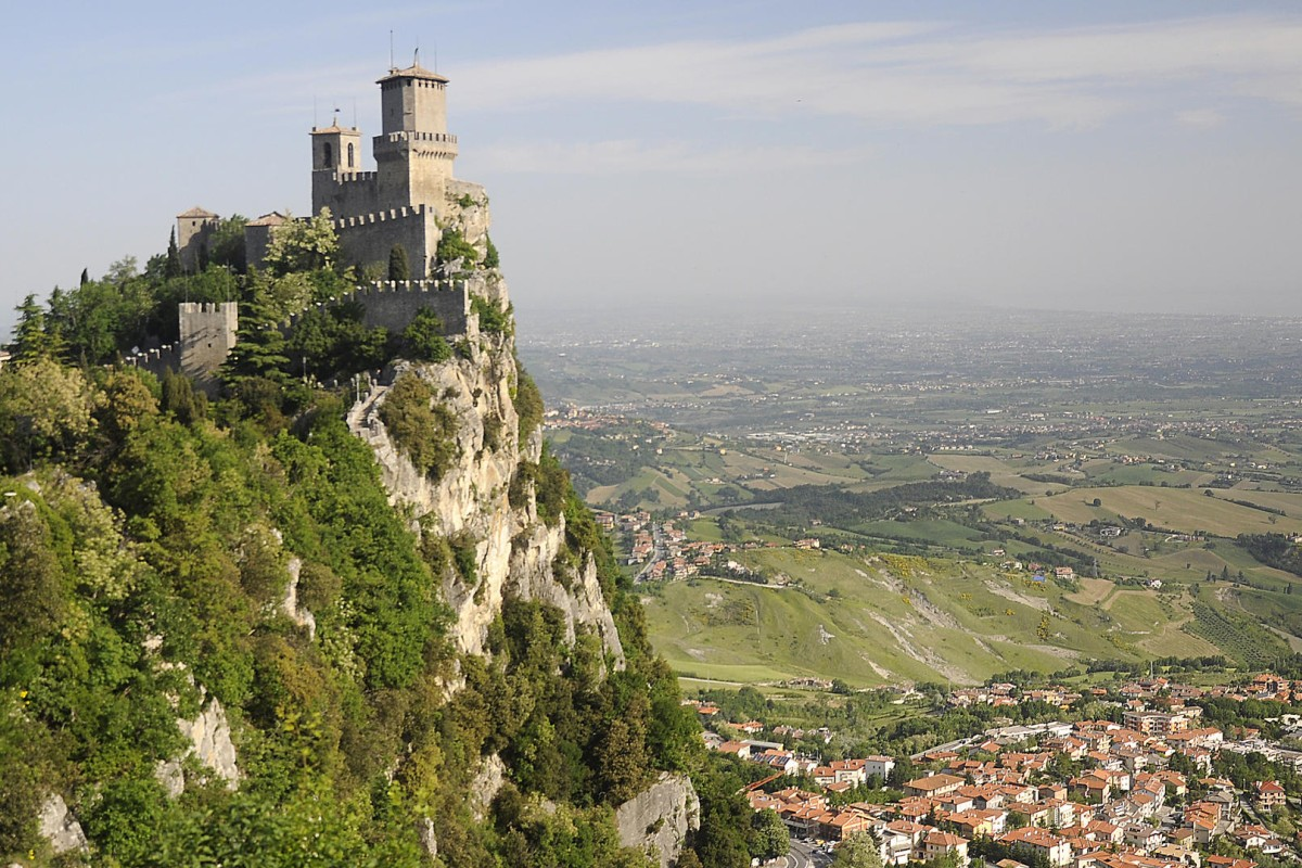San Marino's medieval towers loom over the principality and surrounding Italian countryside. Photos: Tim Pile