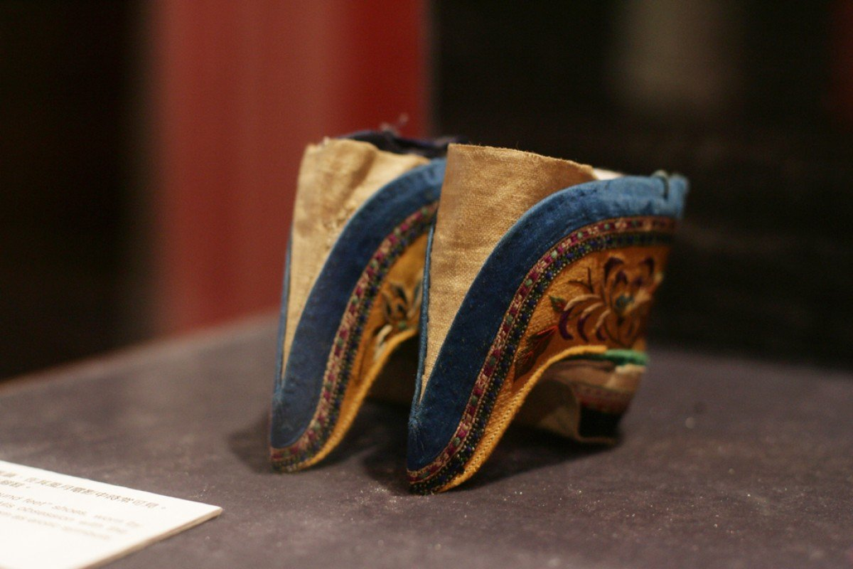 Shoes typical of those worn by women with bound feet. Photo: SCMP