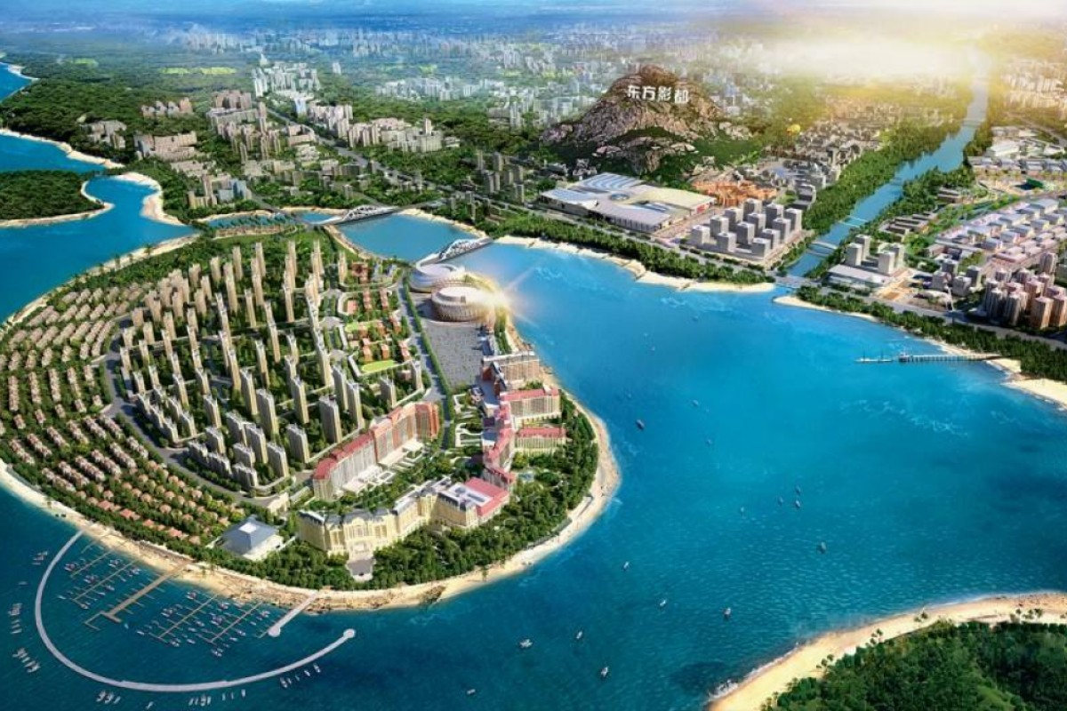 An artist's rendering of Qingdao Oriental Movie Metropolis. Photos: Corbis