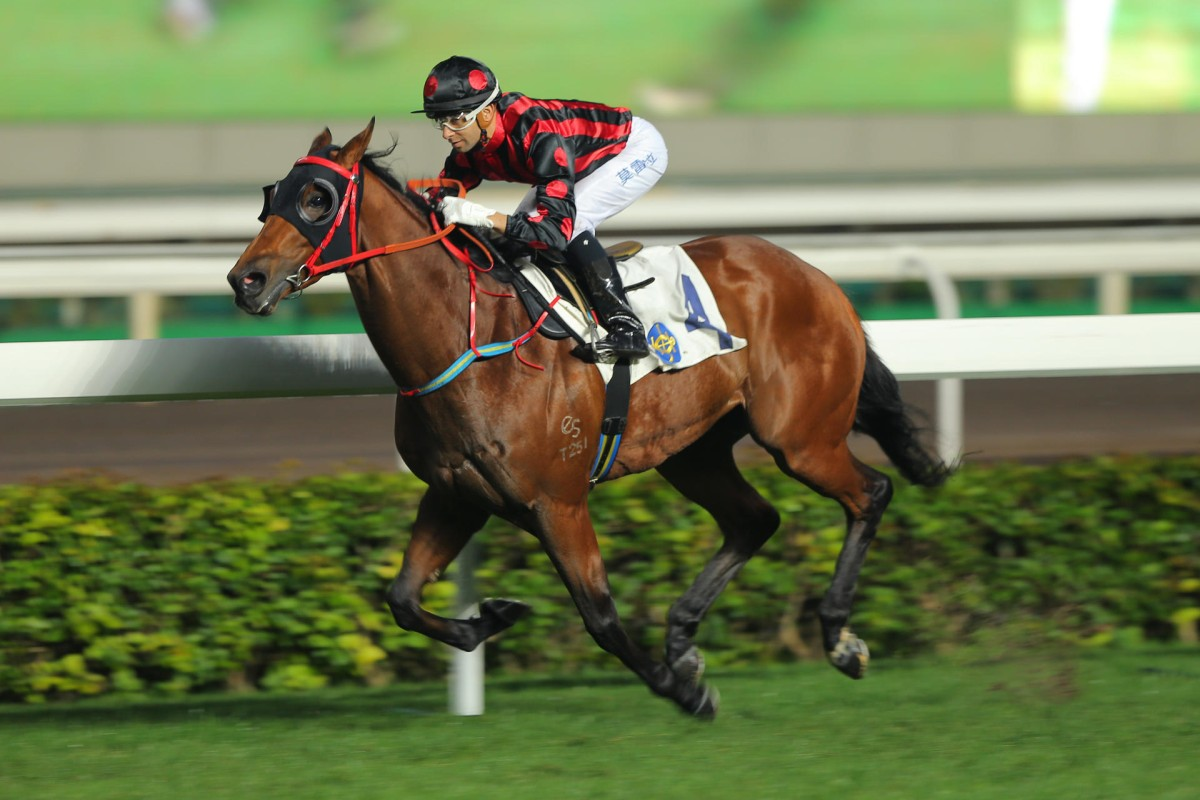 Joao Moreira steers Thewizardofoz to an effortless victory late last month, the exciting galloper stamping himself as the legitimate Classic Mile favourite in the process. Photos: Kenneth Chan
