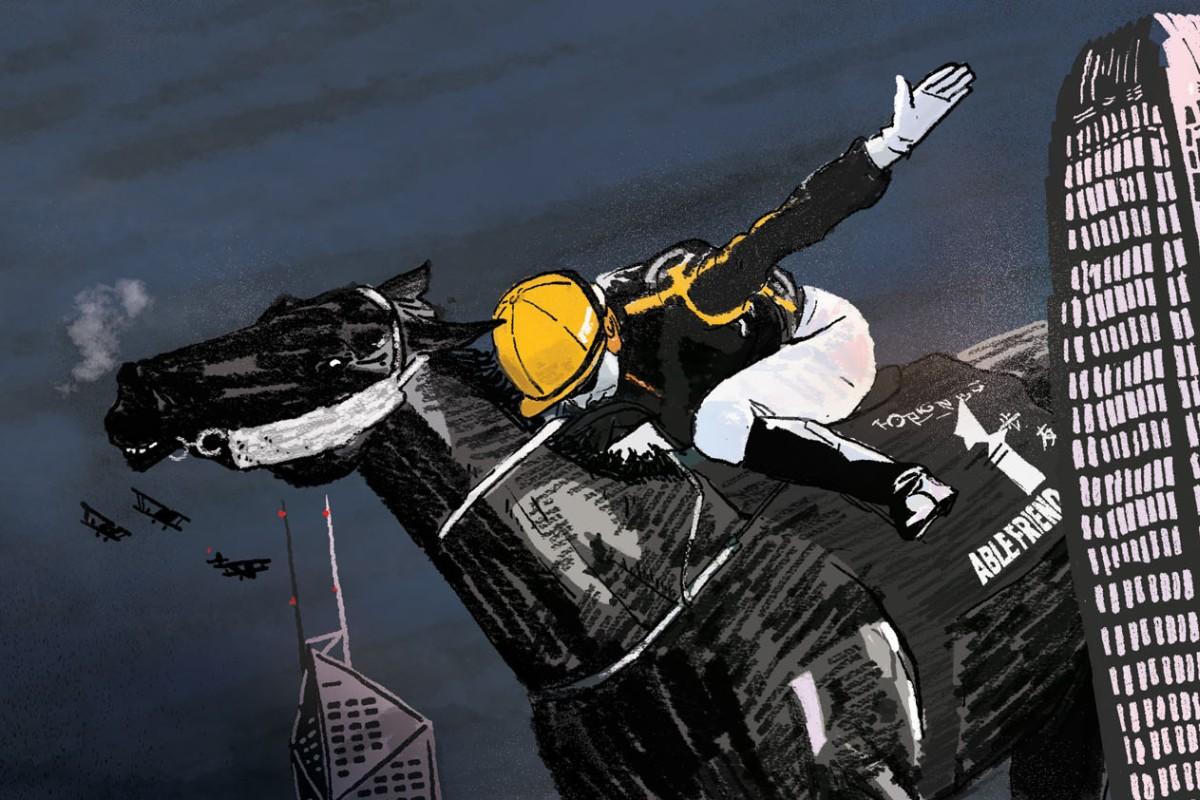 Hong Kong hero Able Friend. Illustration: Brian Wang